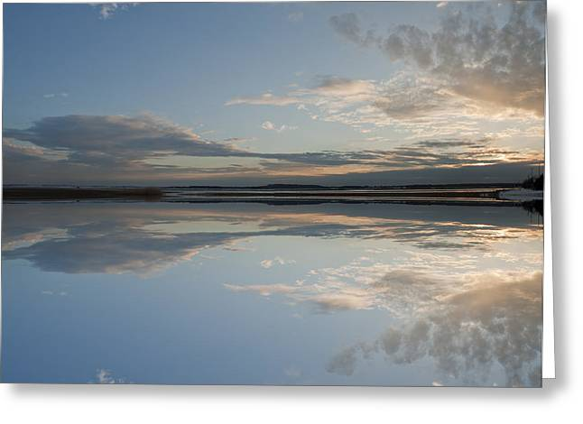 Sunset Framed Prints Greeting Cards - Sunset at Plum Island Greeting Card by Rick Mosher