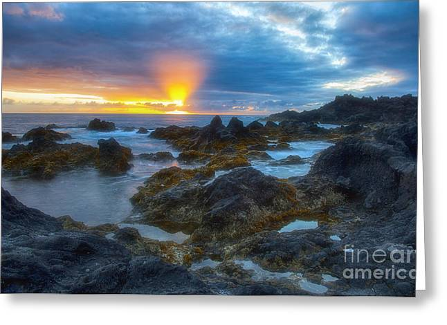 Atlantik Greeting Cards - Sunset at Ponta da Ferraria Greeting Card by Fabian Roessler