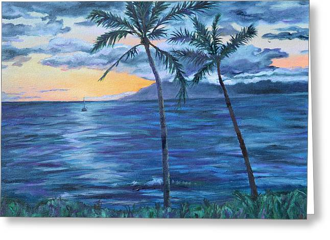 Hawii Greeting Cards - Sunset at Prince Maui Greeting Card by Diana Moll