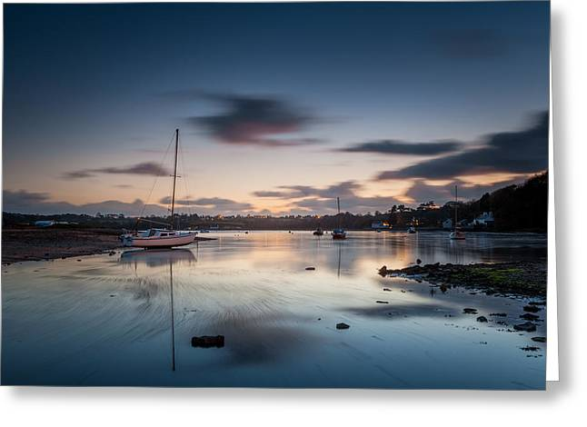 Recently Sold -  - North Sea Greeting Cards - Sunset at Red Wharf Bay Greeting Card by Christine Smart