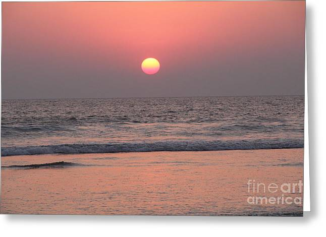 Sunset At San Juan De Alima Greeting Card by Linda Queally