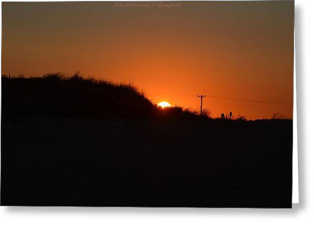 Beach At Night Greeting Cards - Sunset at Sandy Hook  Greeting Card by Sonali Gangane