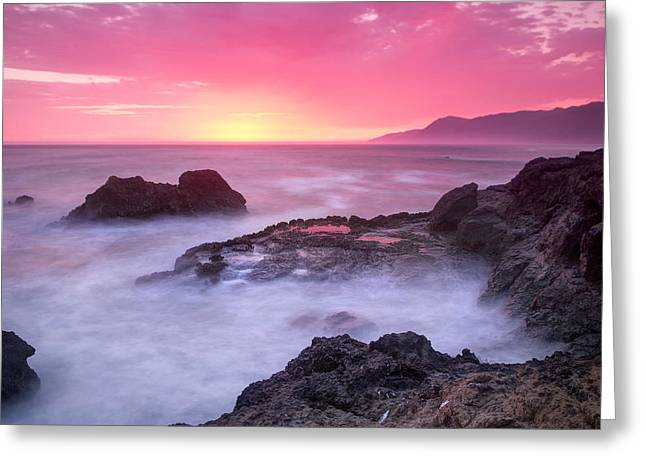 Sausalito Greeting Cards - Sunset at Shelter Cove Greeting Card by Chris Frost