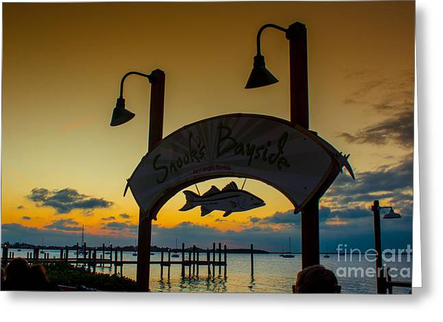 Sunset At Snooks Bayside Greeting Card by Rene Triay Photography