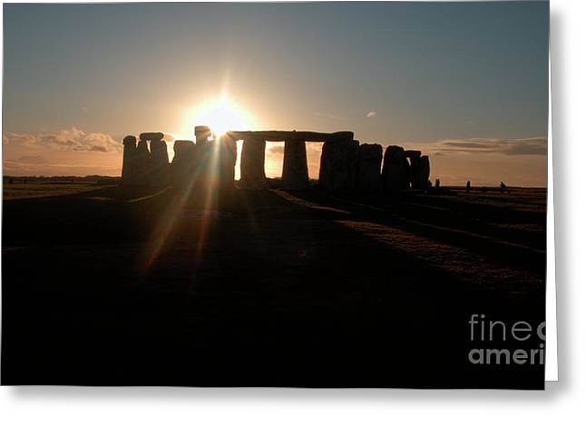 Sunset at Stonehenge 3 Greeting Card by Deborah Smolinske