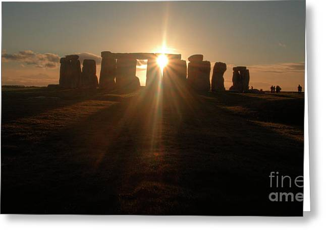 Sunset at Stonehenge 6 Greeting Card by Deborah Smolinske