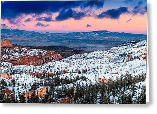 Southern Utah Greeting Cards - Sunset at Sunrise Point Greeting Card by TL  Mair
