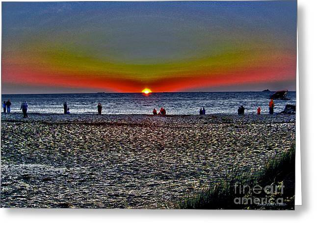 Sea Shell Digital Art Photographs Greeting Cards - Sunset At Sunset Beach  Greeting Card by Annie Zeno