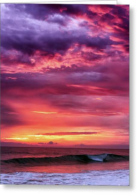 Seaside Digital Greeting Cards - Sunset at the beach Greeting Card by Shardox Photography