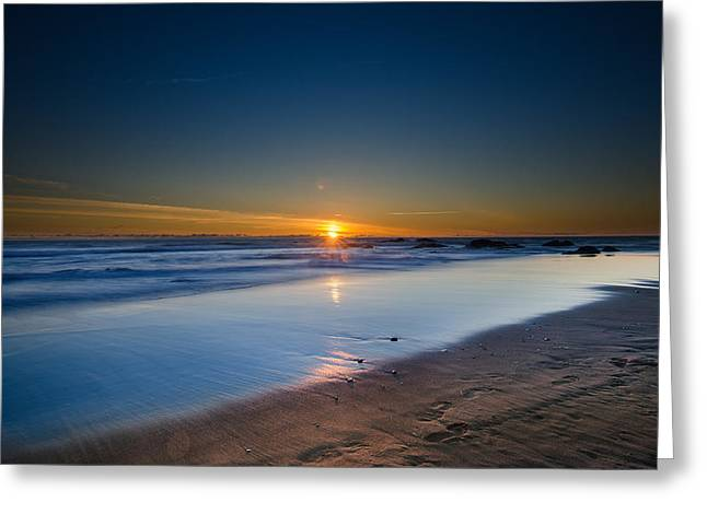 Top Seller Greeting Cards - Sunset at the beach Greeting Card by Tin Lung Chao