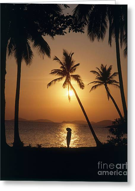 Binh Greeting Cards - Sunset At The Beach, Vietnam Greeting Card by Paul Stepan-Vierow