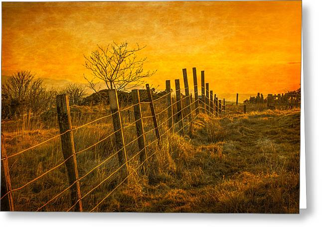 Gloaming Greeting Cards - Sunset at the Douglas Park in Largs Greeting Card by Tylie Duff