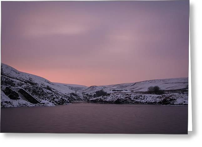 Long Exposure Greeting Cards - Sunset At The Frozen Blue Lagoon. Greeting Card by Daniel Kay