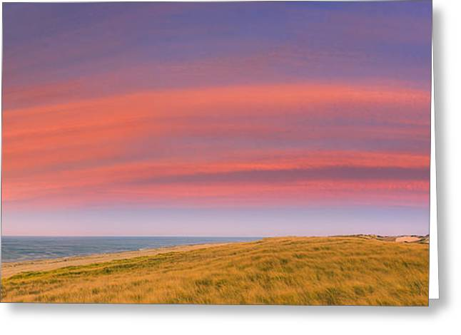 Ptown Greeting Cards - Sunset at the Old Harbor US Life Saving Station Greeting Card by Henk Meijer Photography
