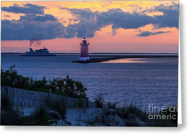 Sand Fences Photographs Greeting Cards - Sunset at the Point Greeting Card by Robert Pilkington
