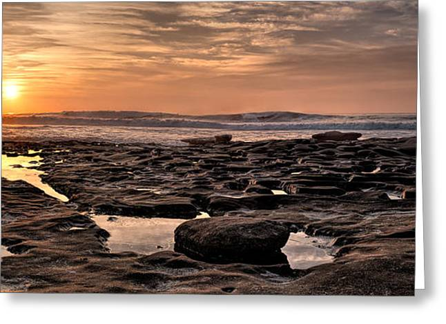 Beach Landscape Greeting Cards - Sunset at the Tidepools I Greeting Card by Peter Tellone