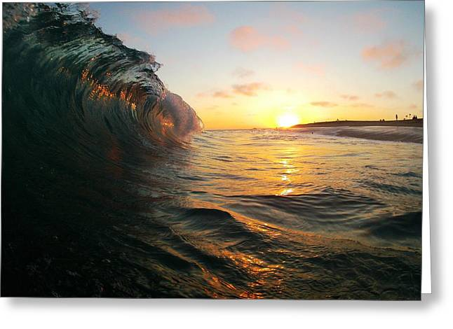Surfing Photos Greeting Cards - Sunset at the Wedge Greeting Card by Daniel Rainey