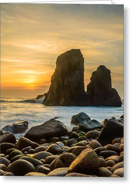 Worlds End Greeting Cards - Sunset At The Worlds End IV Greeting Card by Marco Oliveira