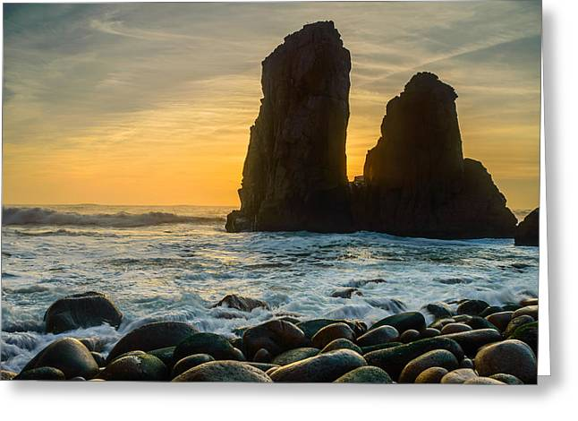 Worlds End Greeting Cards - Sunset At The Worlds End Greeting Card by Marco Oliveira