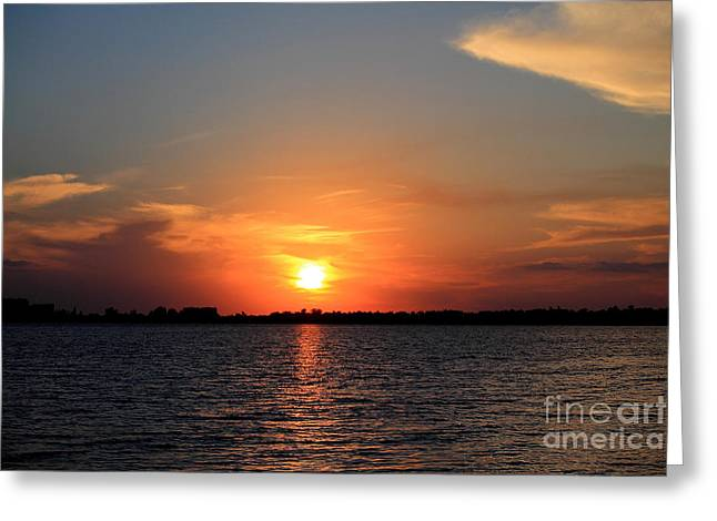 Reserve Pastels Greeting Cards - Sunset at the Yatch Club Greeting Card by Virginia Fred