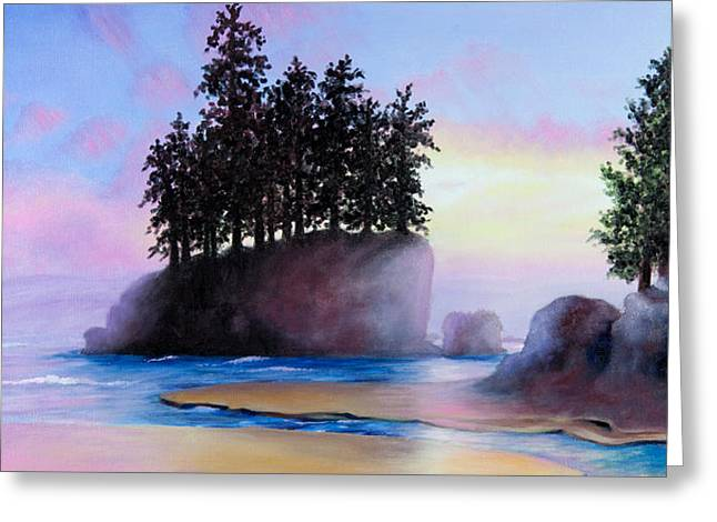 Sunset at Tongue Point Greeting Card by Shelley  Irish