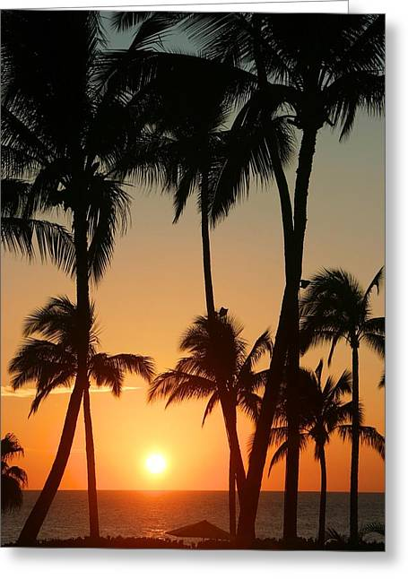 Maui Greeting Cards - Sunset at Wailea Greeting Card by Andy Jackson