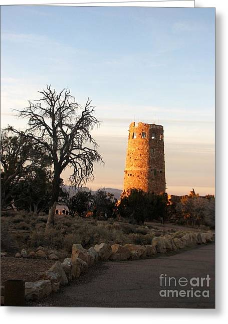 Desertview Greeting Cards - Sunset at Watchtower Greeting Card by Sachin Sawe