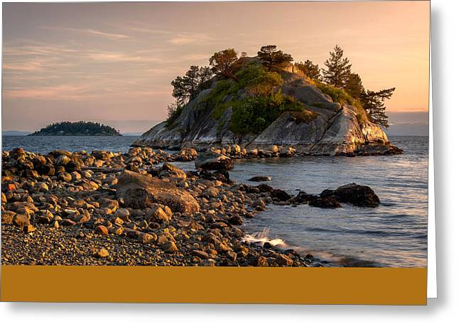 Sunset At Whyte Islet Greeting Card by Alexis Birkill