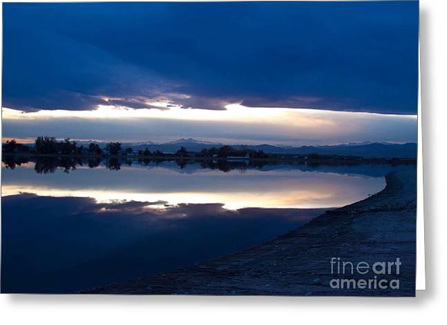 Sunset at Windsor Lake Greeting Card by Dana Kern