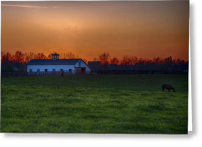 Jack R Perry Greeting Cards - Walmac Farm KY  Greeting Card by Jack R Perry