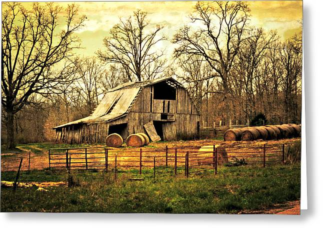 Marty Koch Greeting Cards - Sunset Barn Greeting Card by Marty Koch