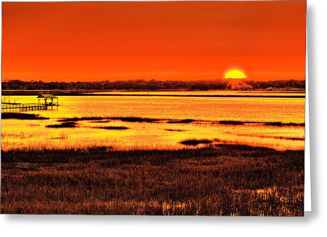 Dave Bosse Greeting Cards - Sunset Bay Greeting Card by Dave Bosse