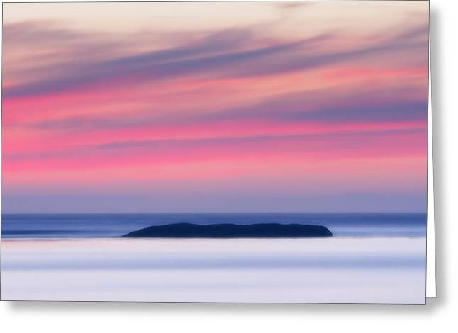 Sunset Abstract Photographs Greeting Cards - Sunset Bay Pastels II Greeting Card by Mark Kiver