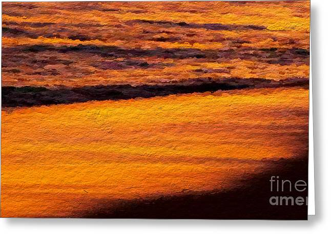 Sunset Framed Prints Mixed Media Greeting Cards - Sunset beach Greeting Card by Anthony Fishburne