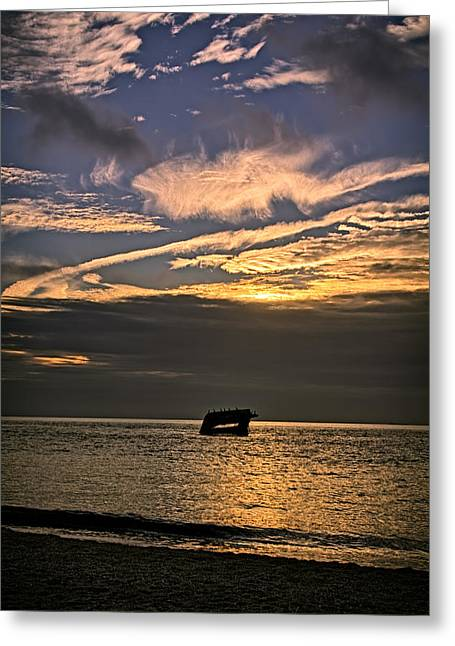 Usa Photographs Greeting Cards - Sunset Beach Cape May Greeting Card by Joan Carroll