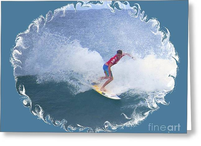 Surfing Photos Greeting Cards - Sunset Beach Surfing  Greeting Card by Scott Cameron
