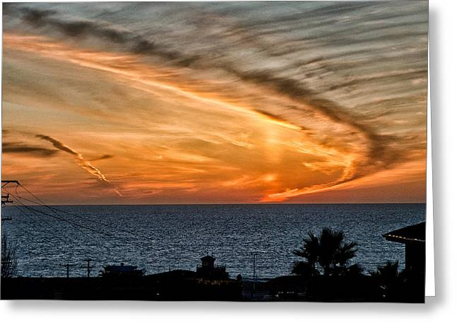 California Beach Greeting Cards - Sunset Blues Greeting Card by Cat Connor