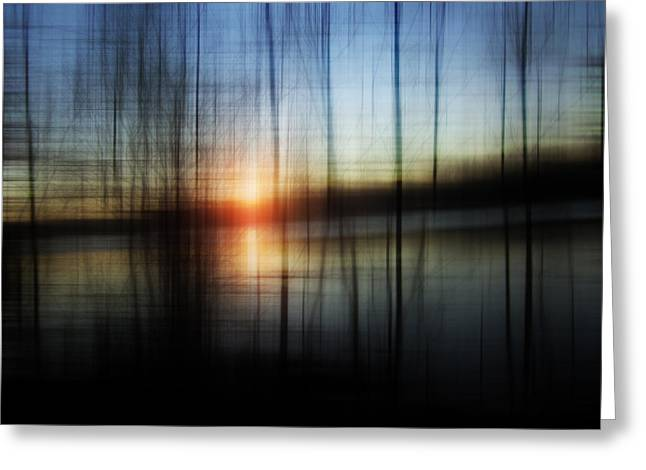 Florin Birjoveanu Greeting Cards - Sunset Blur Greeting Card by Florin Birjoveanu