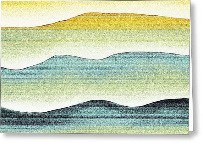 Bryant Digital Art Greeting Cards - Sunset Greeting Card by Brenda Bryant