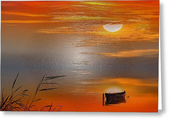 Fantasy Tree Greeting Cards - Sunset Charm Greeting Card by Scott Mendell