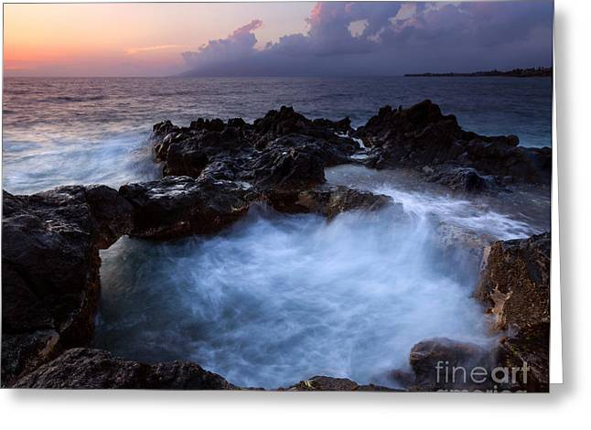 Cauldron Greeting Cards - Sunset Churn Greeting Card by Mike Dawson