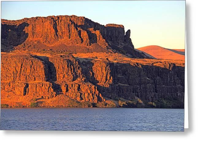 Sunset Cliffs at Horsethief  Greeting Card by Talya Johnson