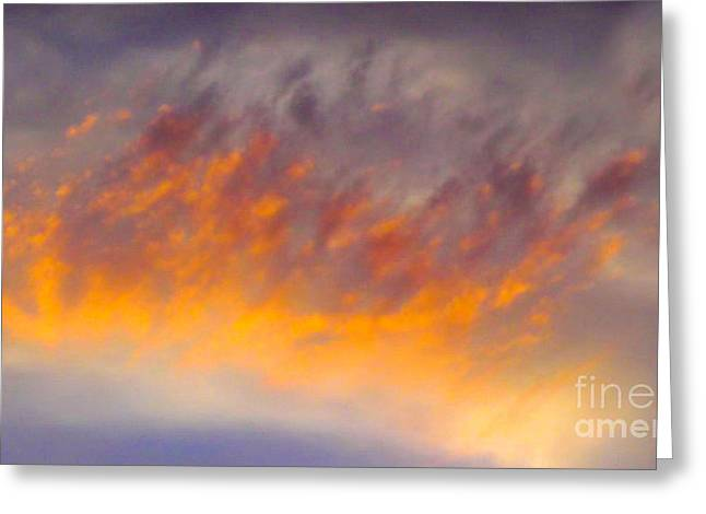 Recently Sold -  - Fineartamerica Greeting Cards - Sunset Cloud-1 Greeting Card by Alan Thwaites