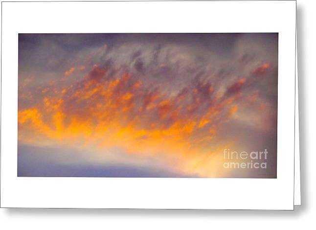 Omg Greeting Cards - Sunset Cloud-1 Greeting Card by Alan M Thwaites