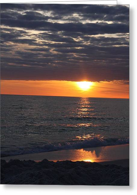 Panama City Beach Greeting Cards - Sunset Clouds Greeting Card by Christiane Schulze Art And Photography