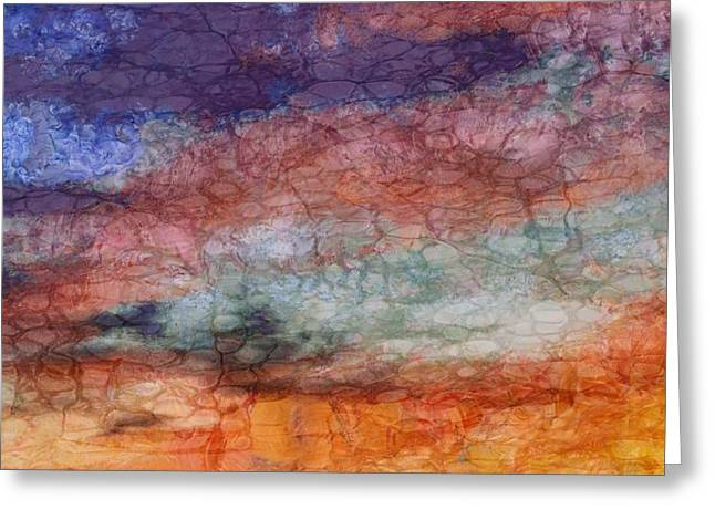 Evening Lights Mixed Media Greeting Cards - Sunset Colors Greeting Card by Dan Sproul