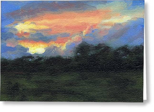 Paysage A L Greeting Cards - Sunset - Couche de Soleil Greeting Card by David Ormond