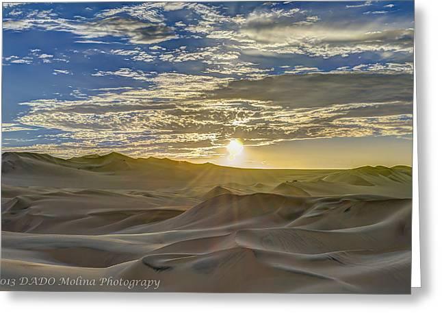 Peru Greeting Cards - Sunset Greeting Card by Dado Molina
