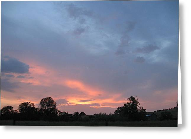 Sunset  Greeting Card by Debra Madonna