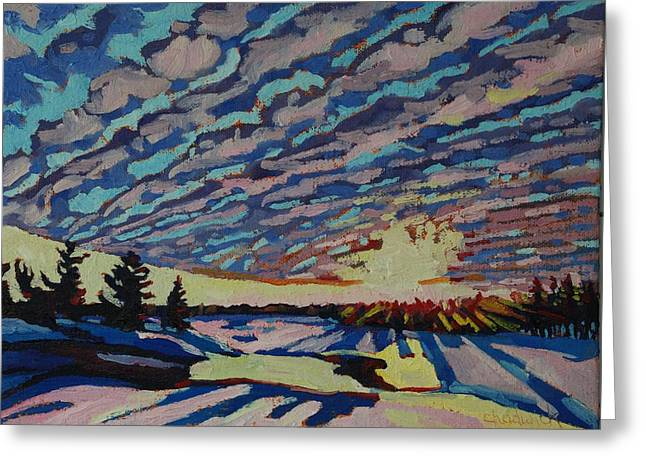 Weather Greeting Cards - Sunset Deformation Greeting Card by Phil Chadwick